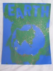 Earth Day Resist Painting